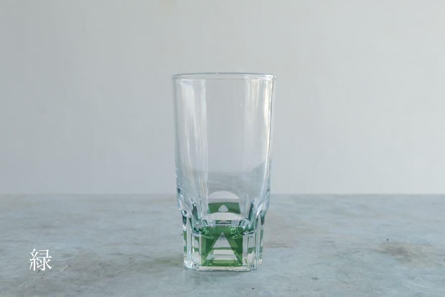 ICCAの日本のアンティークのレトロな色付きのグラス
