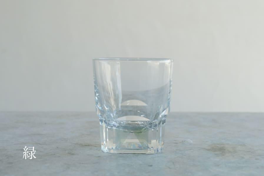 ICCAの日本のアンティークのレトロな角底のショットグラス