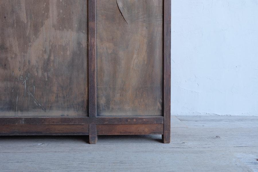 ICCAの日本のアンティークの大理石の天板の明治時代のカウンターテーブル
