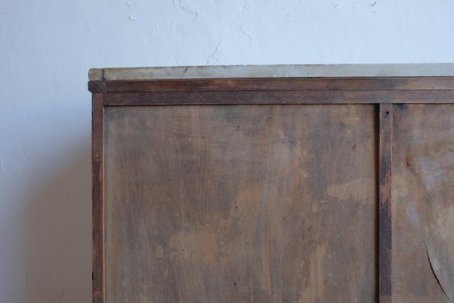 ICCAの日本のアンティークの大理石の天板の高級感のあるカウンターテーブル