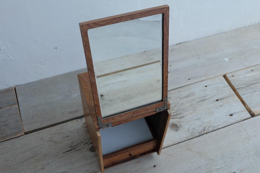 古道具鏡付き収納箱