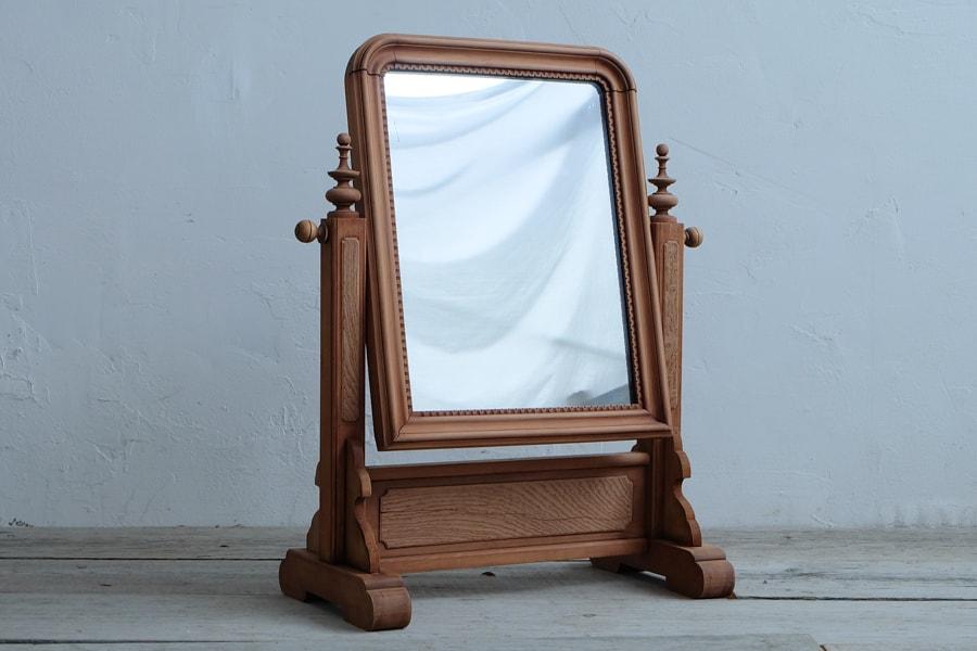 ICCAの日本のアンティークの卓上鏡