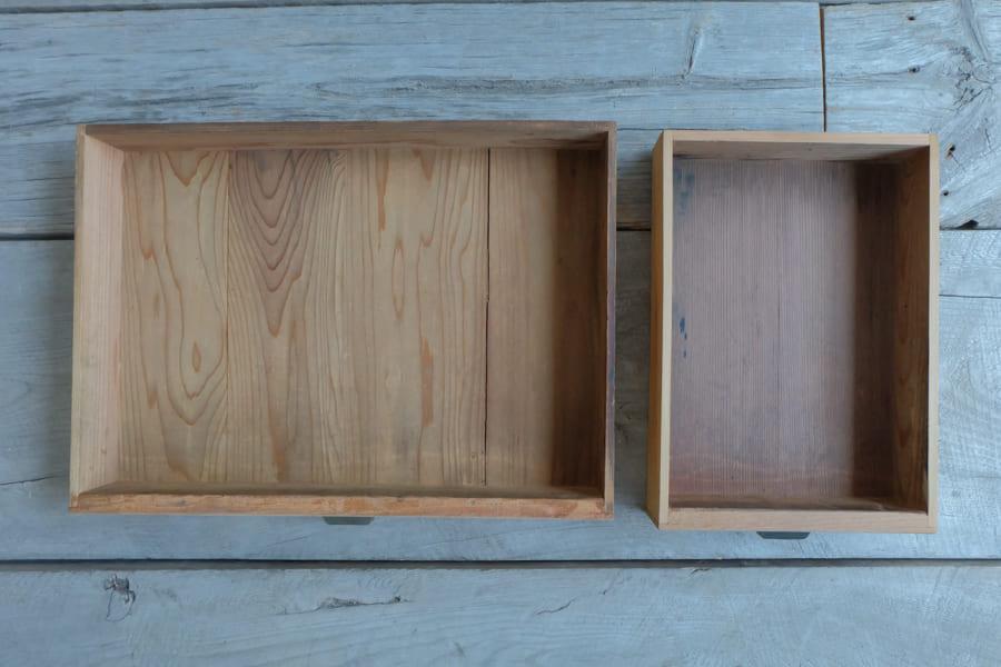 和のアンティークの真鍮の取手のリビングテーブル