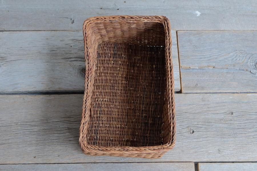 あけび素材の古民具籠