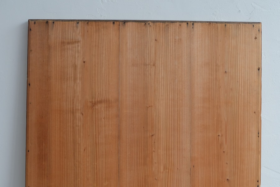 ICCAの日本のアンティークの杉材の鏡