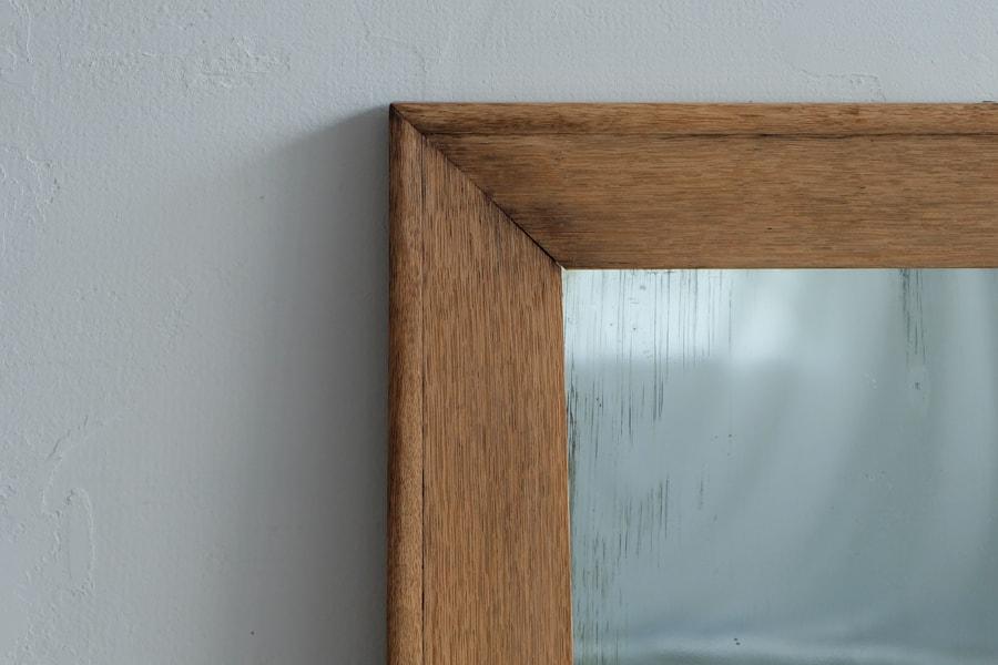 ICCAの日本のアンティークの楢材の鏡