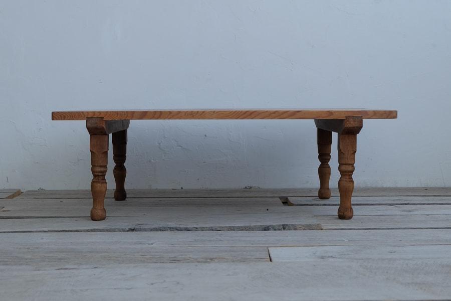 日本のアンティークの大きなサイズのリビングテーブル