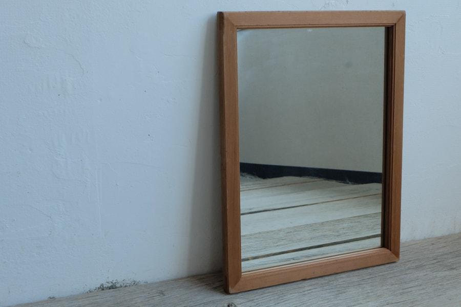 ICCAの日本のアンティークの杉材の額縁の鏡
