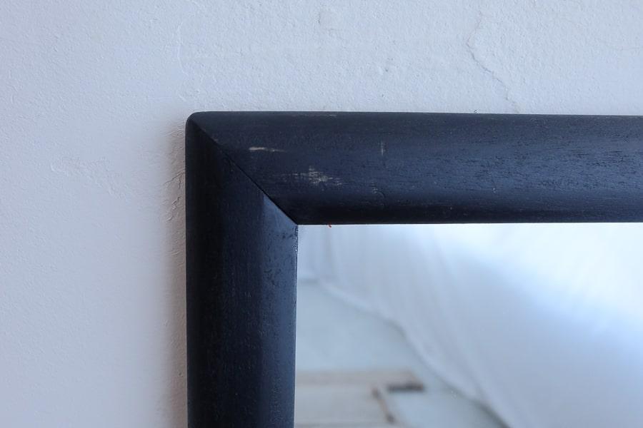 ICCAの日本のアンティークの黒い姿見の鏡