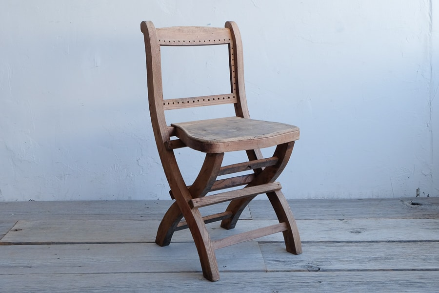ICCAの日本のアンティークの折りたたみ椅子