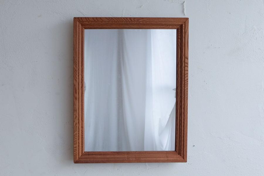 ICCAの日本のアンティークのケヤキのフレームの鏡
