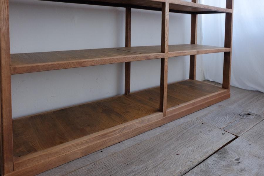 ICCAの日本のアンティークの栗色の本棚