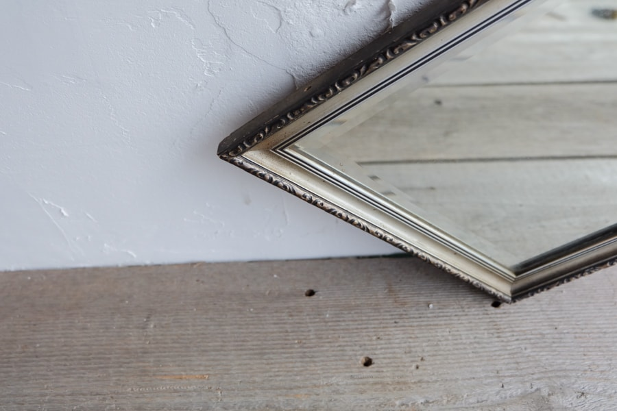 ICCAの日本のアンティークのひし形の鏡