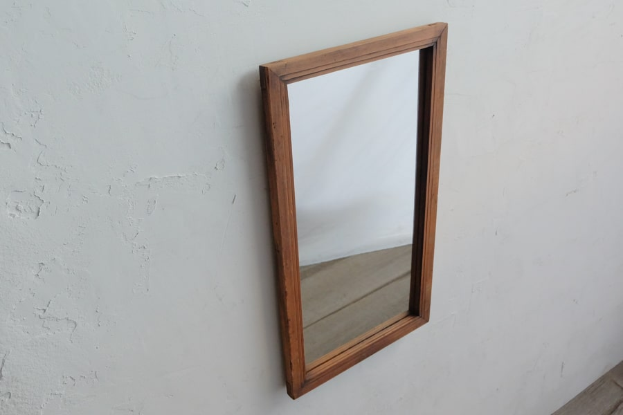 ICCAの日本のアンティークの縦長の額縁の鏡