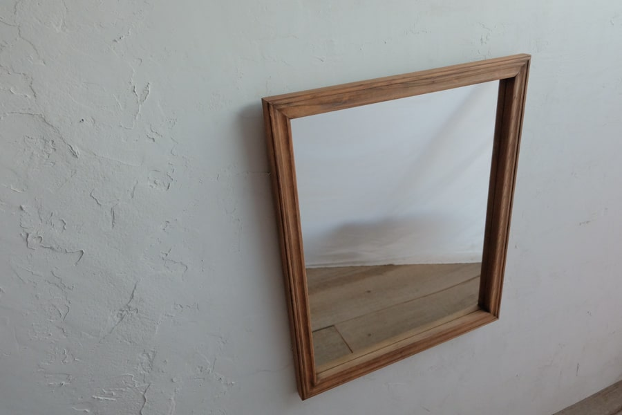 ICCAの日本のアンティークのケヤキの額縁の鏡