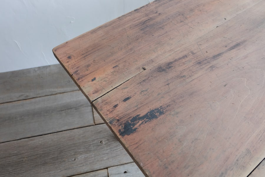 古引き出し付きダイニングテーブル
