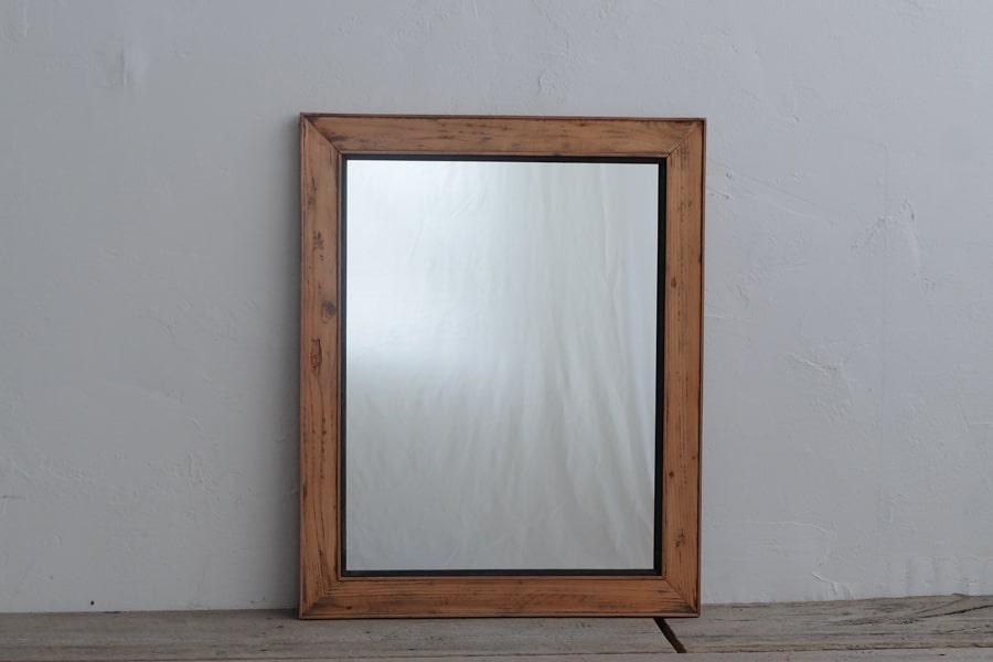 ICCAの日本のアンティークの桜材の額縁の鏡