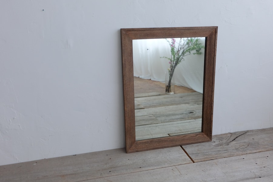 ICCAの日本のアンティークの栗色の額縁の鏡