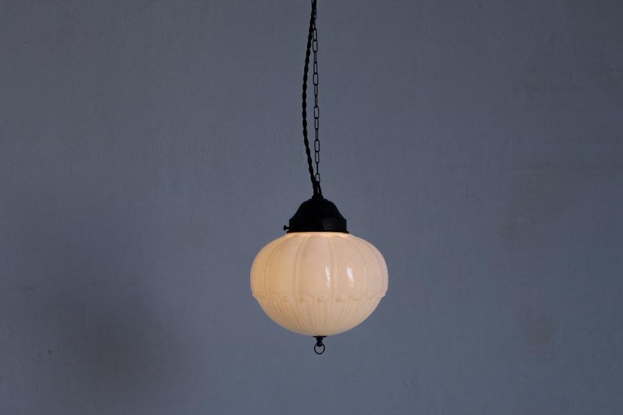 日本のアンティークの小さい灯りのペンダントライト
