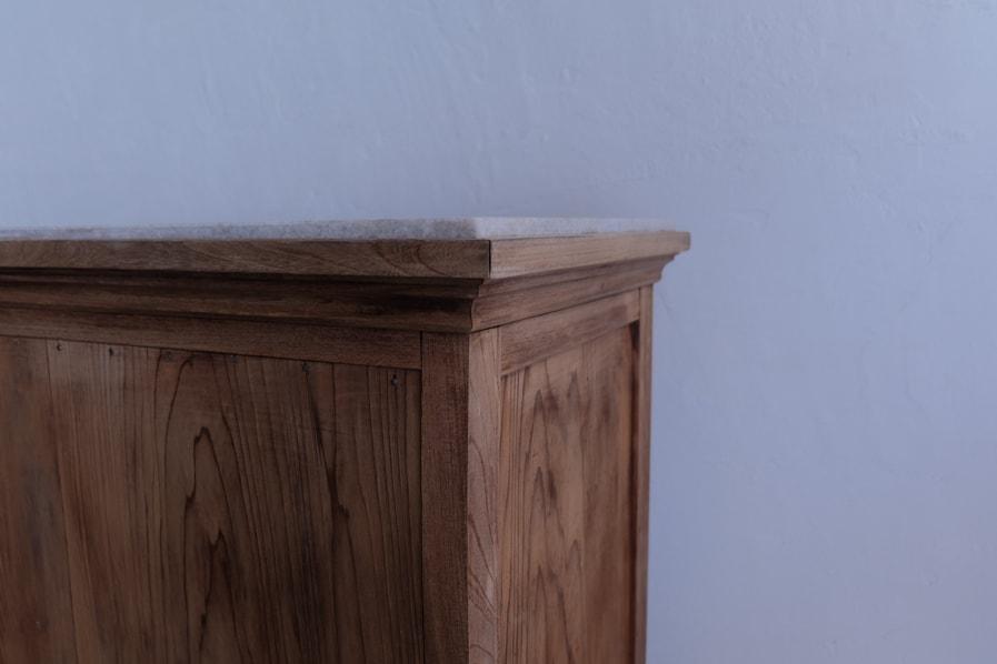 ICCAの日本のアンティークの大理石の天板のショップで使えるカウンターテーブル