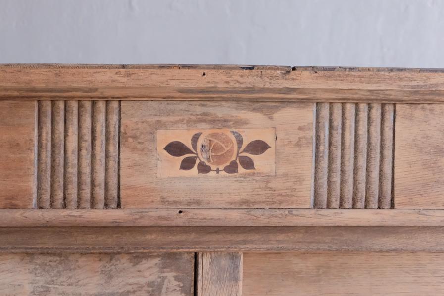 日本のアンティークの昭和レトロの二段の食器棚