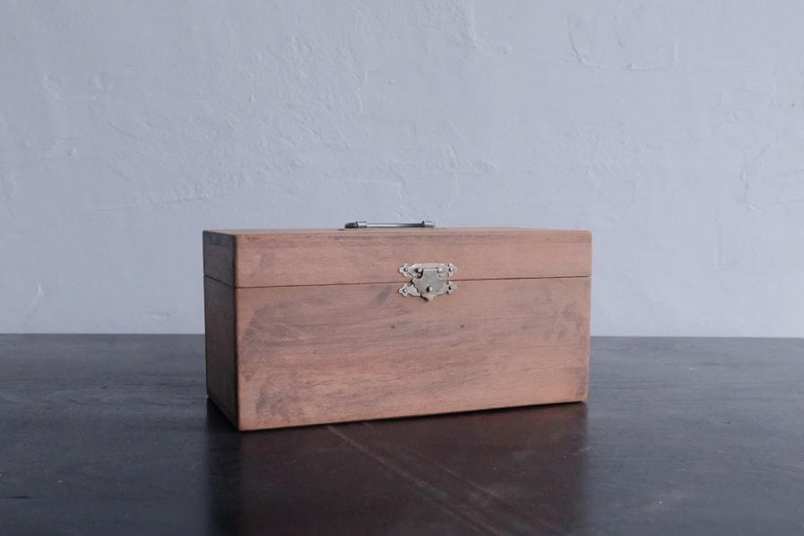 ICCAの日本のアンティークのシンプルな小さい道具箱