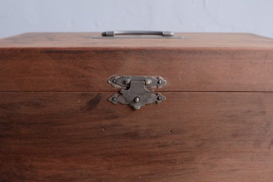 ICCAの日本のアンティークのレトロな小さい道具箱