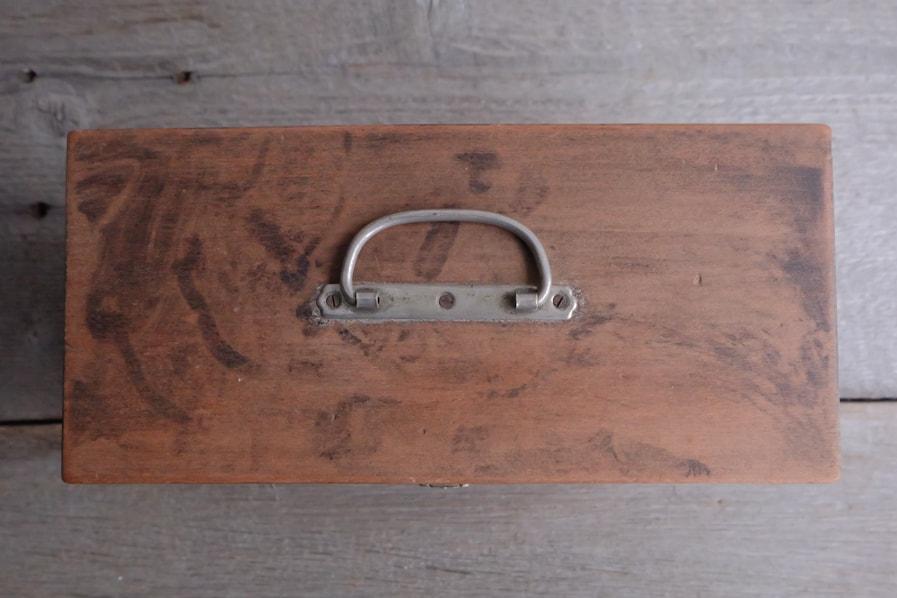 ICCAの日本のアンティークの使いやすい小さい道具箱