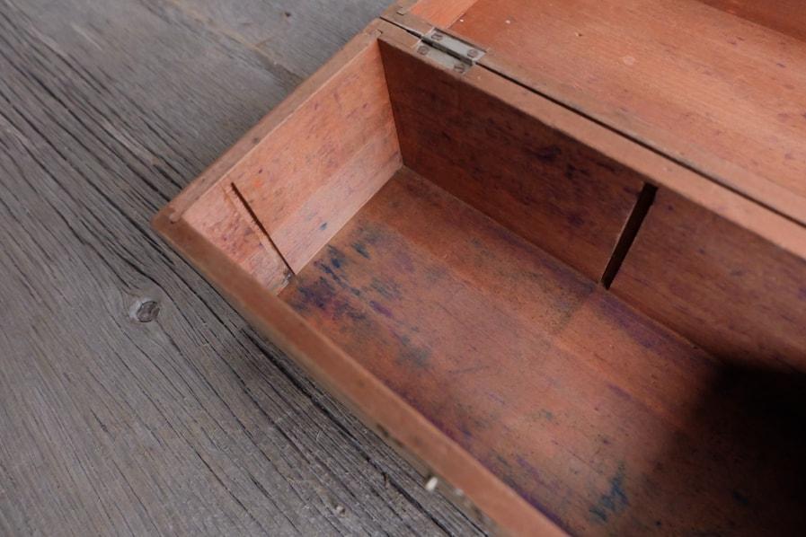 ICCAの日本のアンティークの古道具の小さい道具箱