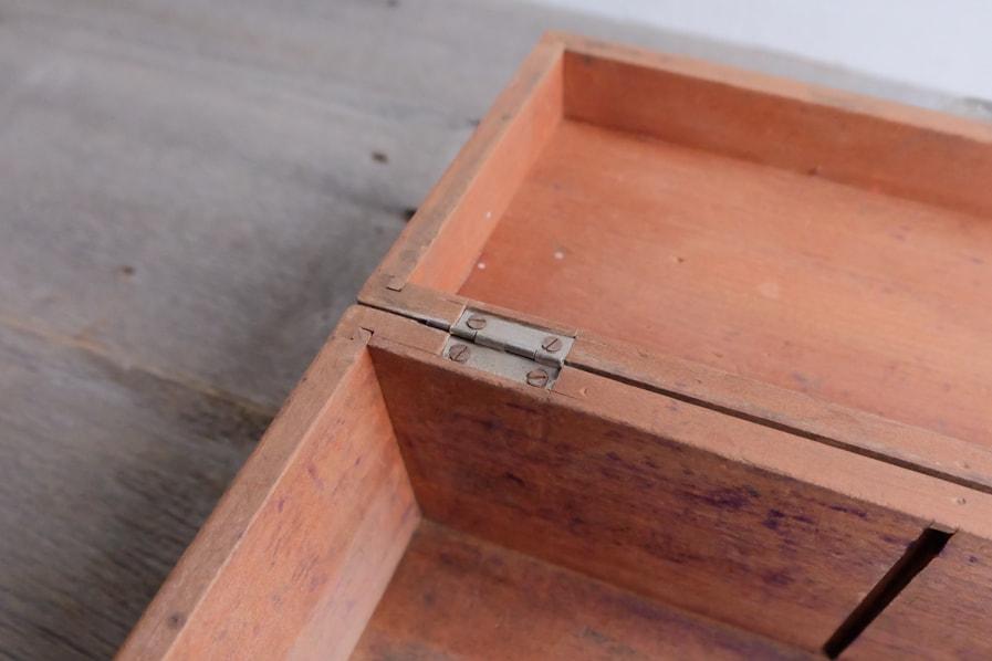 ICCAの日本のアンティークの古家具の小さい道具箱