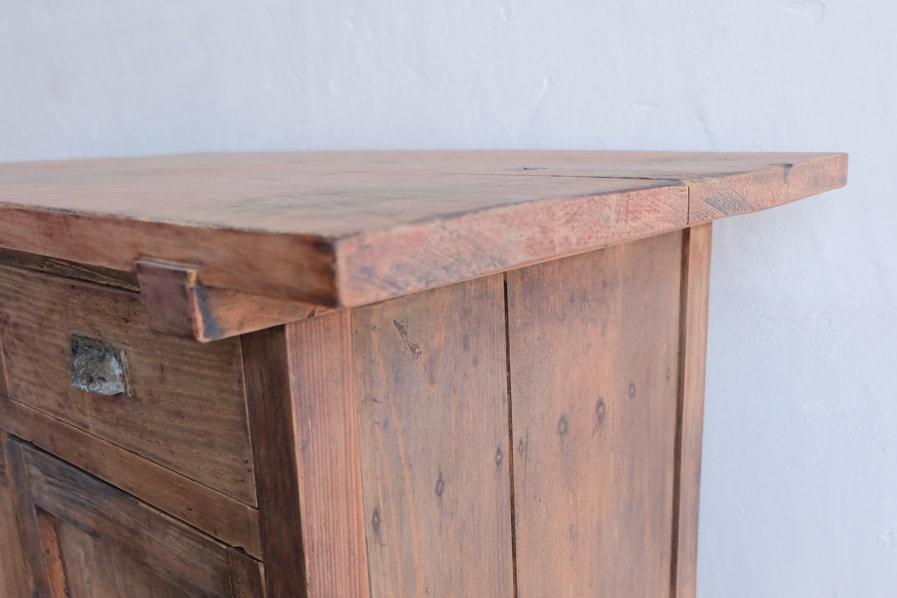 日本のアンティークの天板の厚いコンソールテーブル