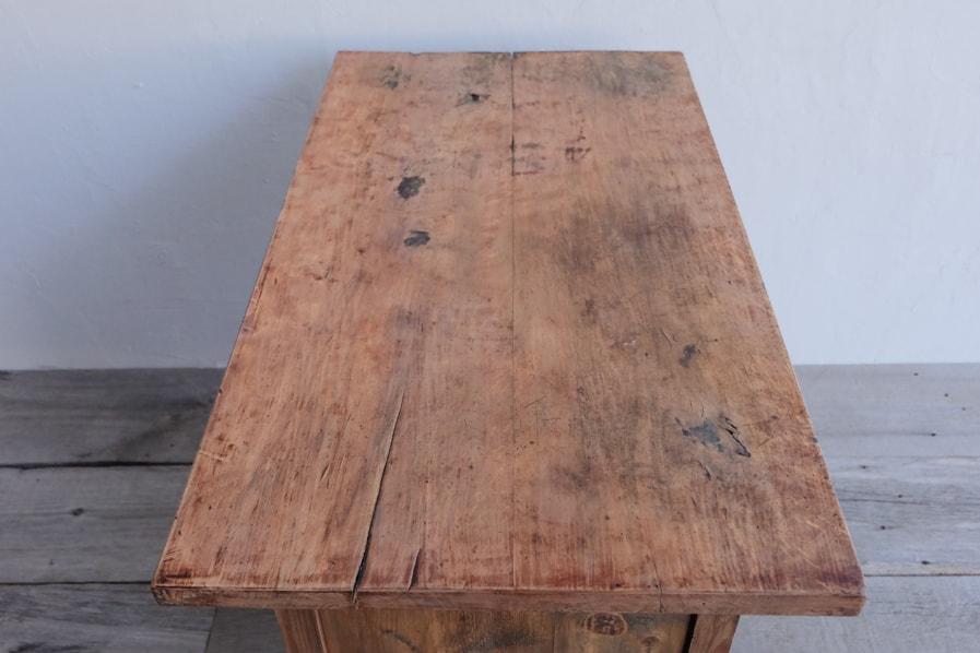 日本の古家具の強度の高いコンソールテーブル