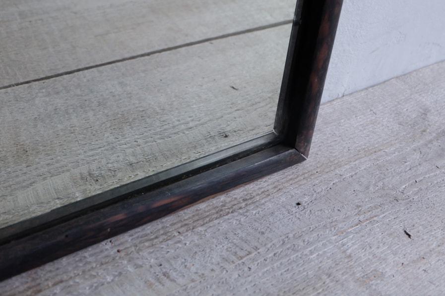 ICCAの日本のアンティークのシンプルな黒い縁の鏡