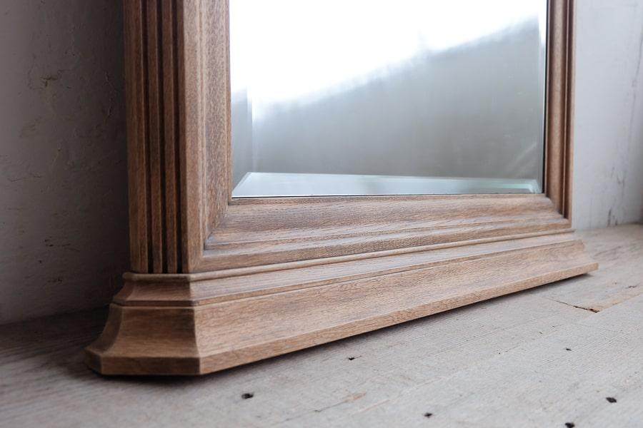 ICCAの日本のアンティークの木製フレームのナラの鏡