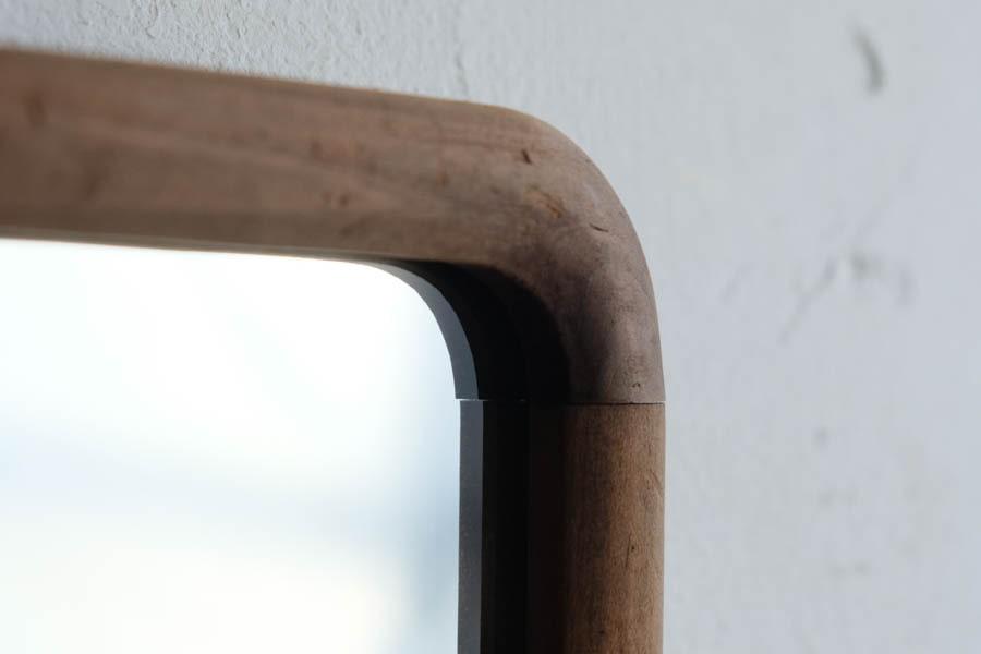 ICCAの日本のアンティークの木製フレームの大きな鏡