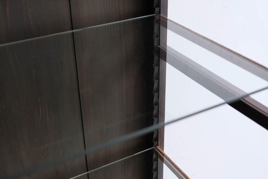 ICCAの日本のアンティークの大正期のガラスショーケース