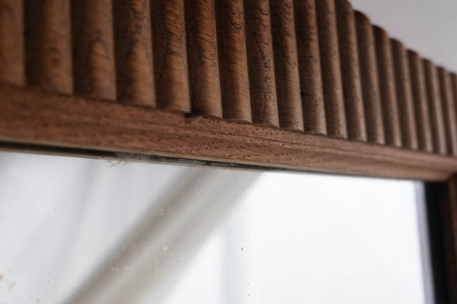 ICCAの日本のアンティークの木製フレームの鏡