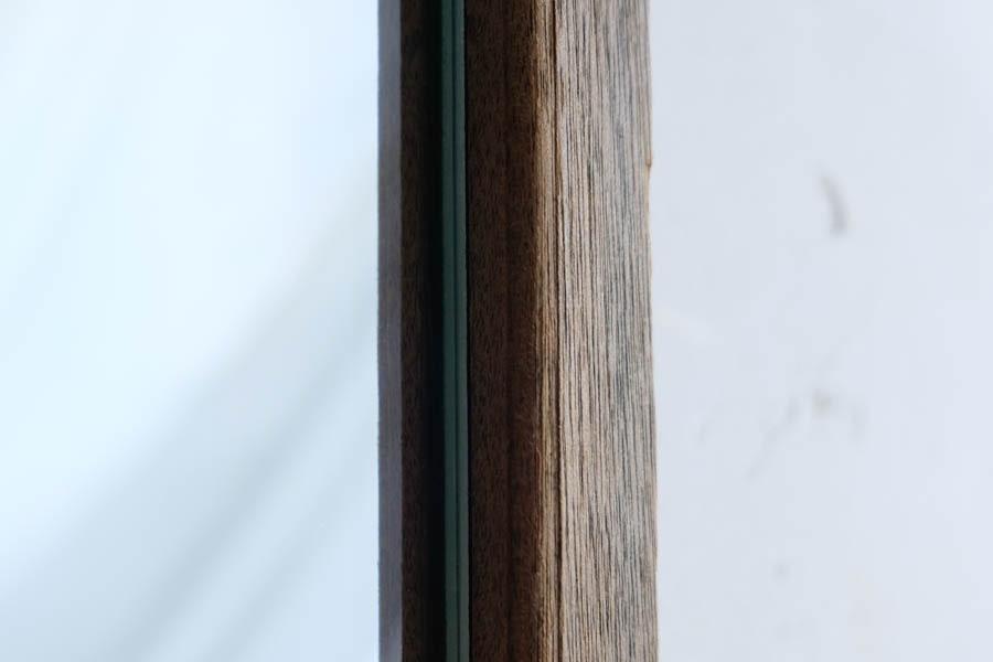 ICCAの日本のアンティークの木製フレームの縦長の鏡