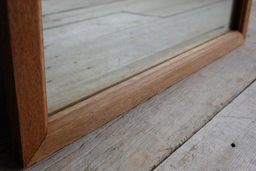 ICCAの日本のアンティークのラワン材の鏡
