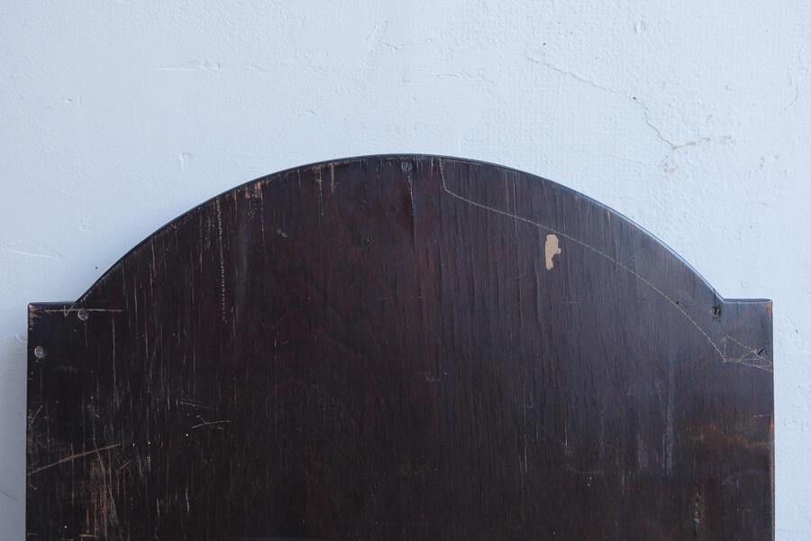 ICCAの日本のアンティークの木製フレームの三面鏡