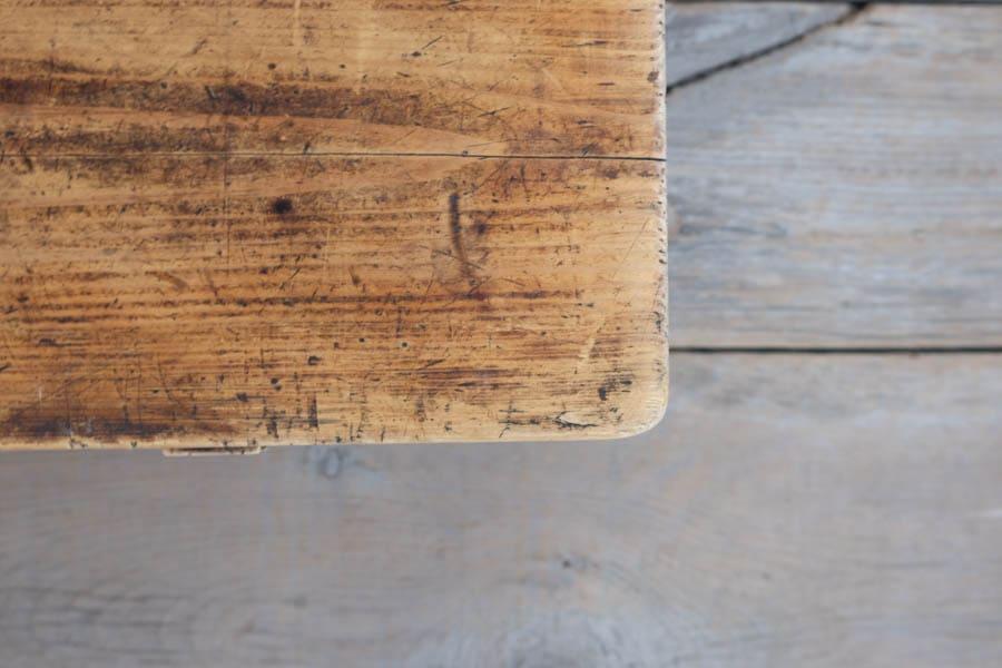 ICCAの日本のアンティークの欅のダイニングテーブル
