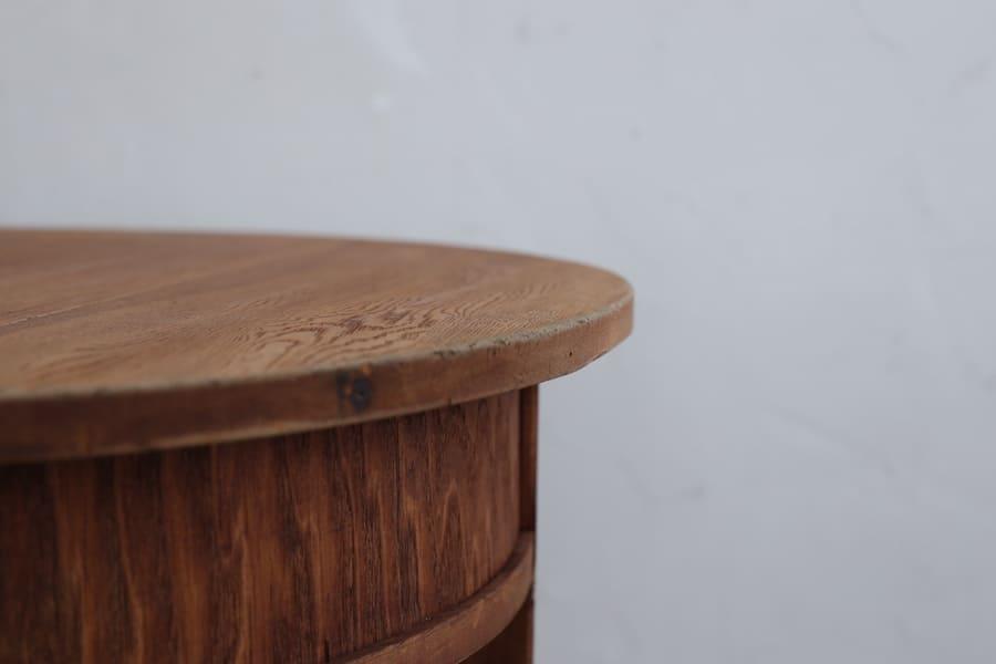 ICCAの日本のアンティークの丸テーブル