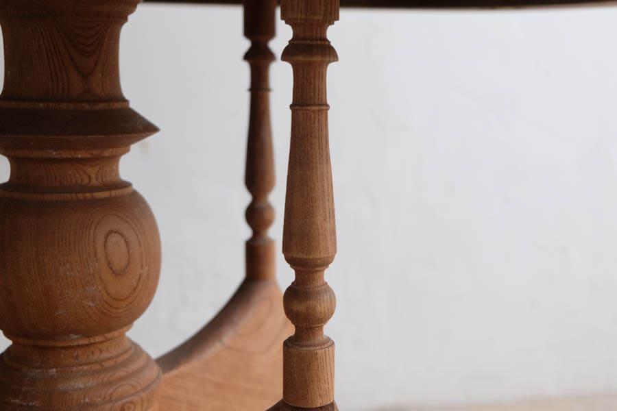 ICCAの日本のアンティークの大正ロマンのラウンドテーブル